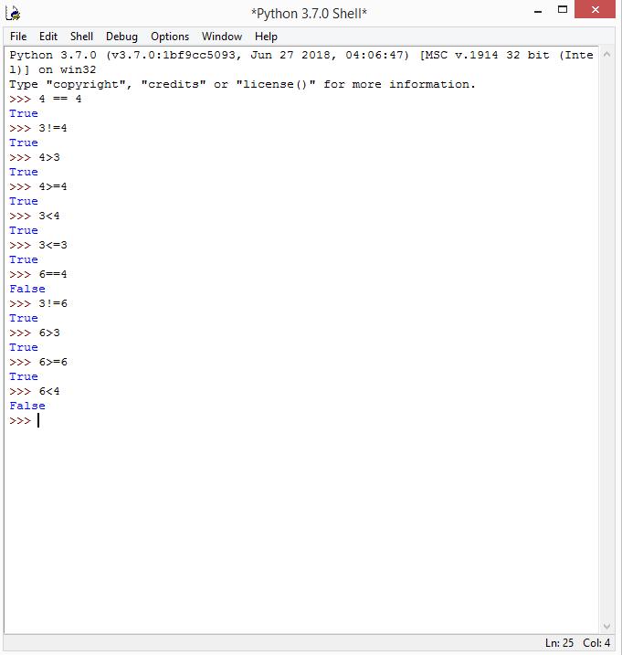 operadores lógicos em python