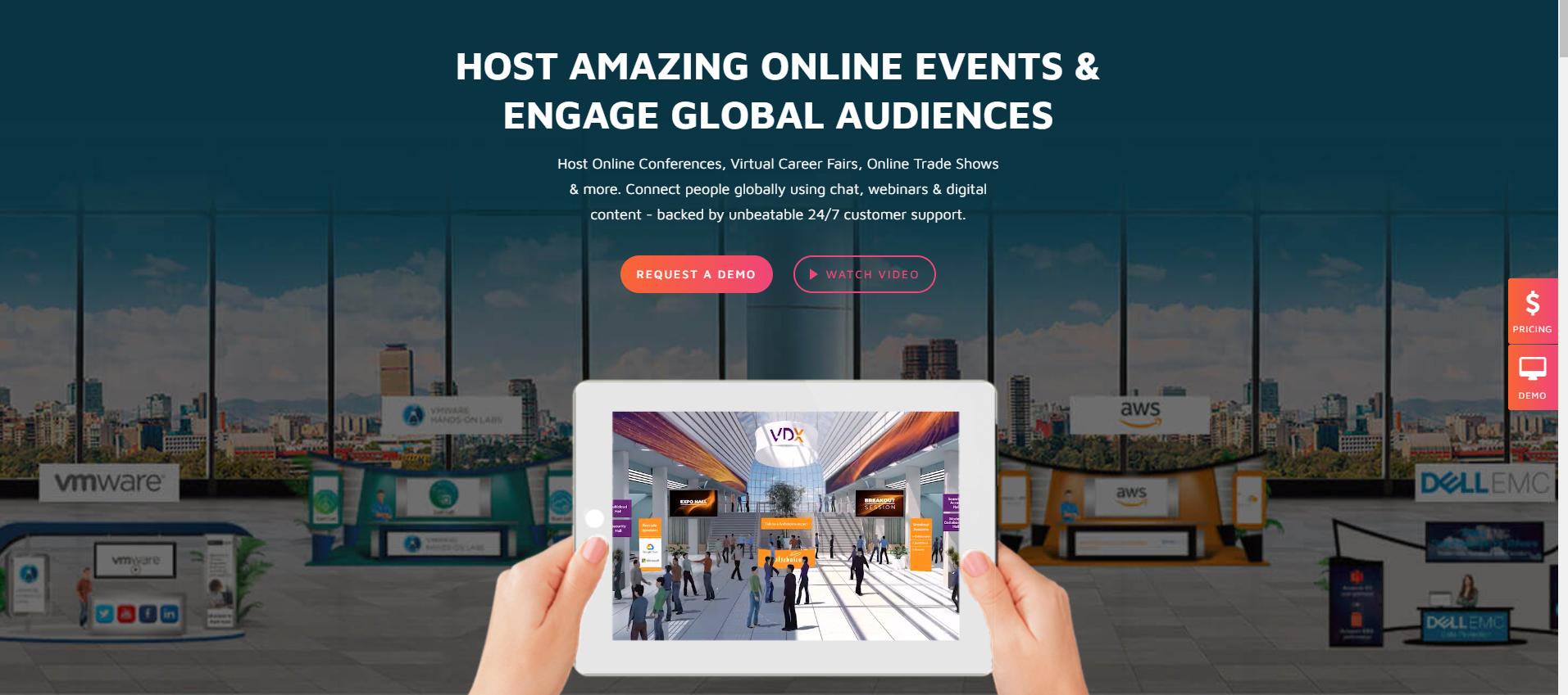 Plataforma de eventos online VFair